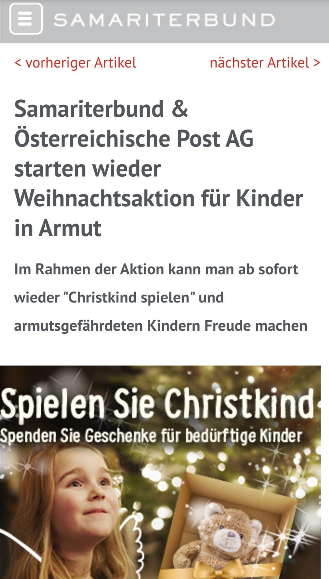 Info-Deal: Samariterbund Weihnachtsaktion!
