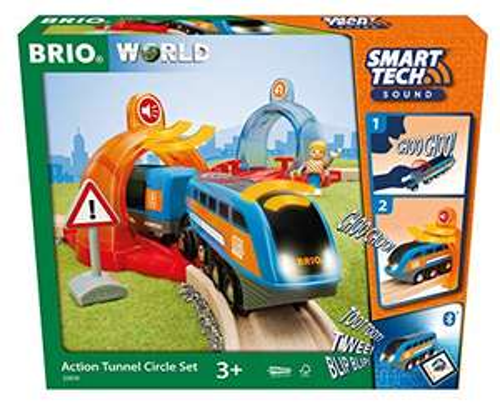BRIO 63397400 Bahn 33974-Smart Tech Sound Starter Set