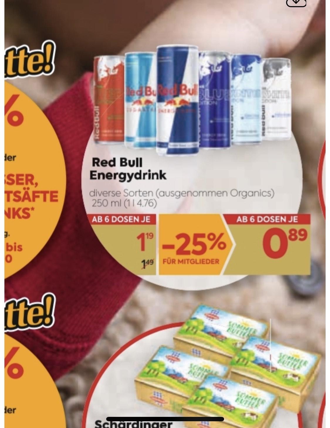 Redbull , ab 3.12 bis 7.12 mit JÖ-Karte ab 6Stk , um nur 0.89€,-