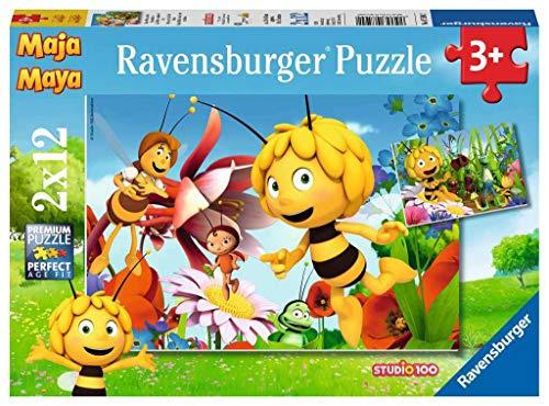Preisjäger Junior: Ravensburger Kinderpuzzle - Biene Maja auf der Blumenwiese - 2 x 12 Teile