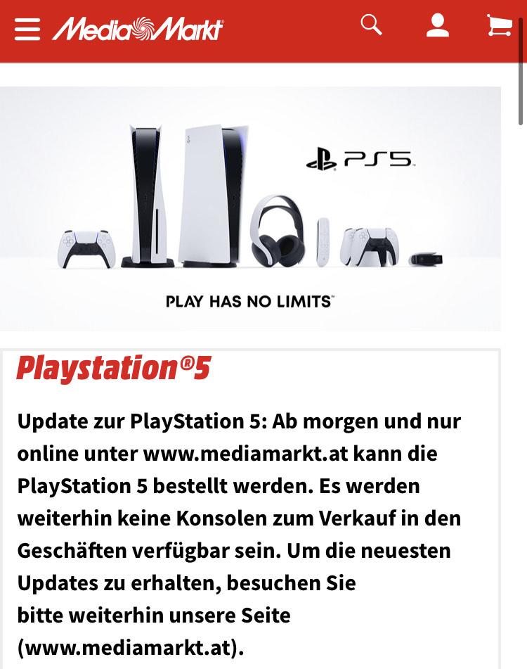 MediaMarkt: PS5 Vorbestellen