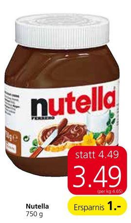 [Spar] Nutella Time, 750g zum Bestpreis