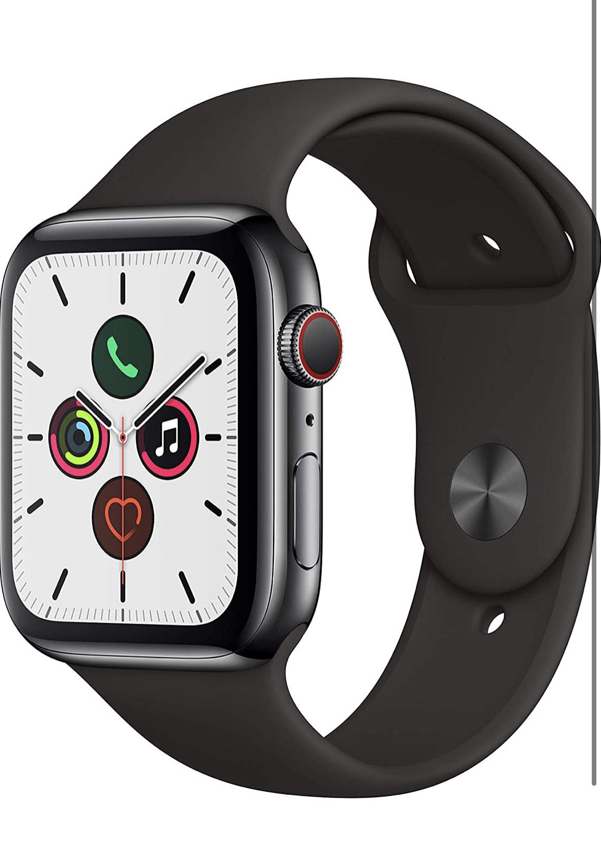 Apple Watch Series 5 44mm GPS+Cellular Edelstahl +1 kostenloses Apple Watch Armband