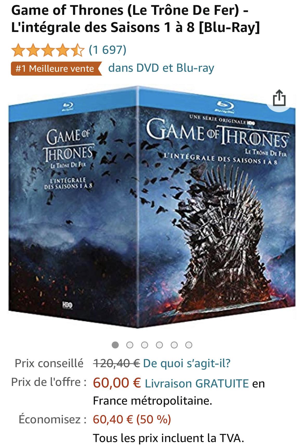 Game of Thrones komplette Serie 1-8 BluRay