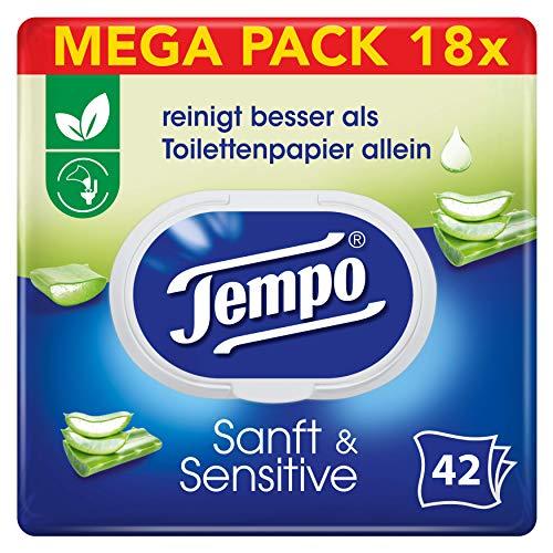 """18x Tempo feuchtes Toilettenpapier """"sanft&sensitiv"""""""