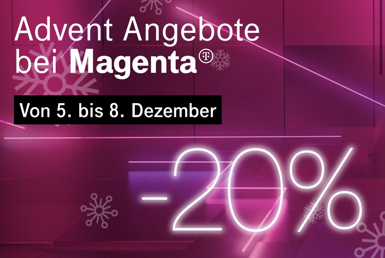 Magenta: 20% Rabatt für zwei Jahre auf Mobile Smartphone, Internet & Internet + TV Tarife