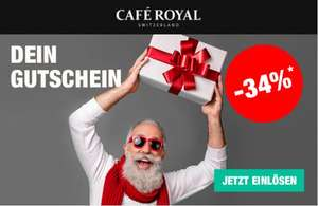-34% bei Cafe Royal