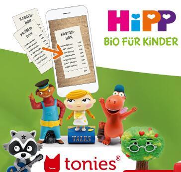 Hipp Produkte um 50€ kaufen - gratis Tonie od. 15€ Rabatt auf die Toniebox erhalten (1.1.2021 - 30.6.2021)
