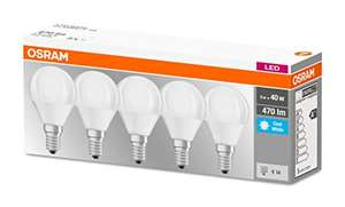Osram LED 5er-Pack E14 5W 470Lm 4000K