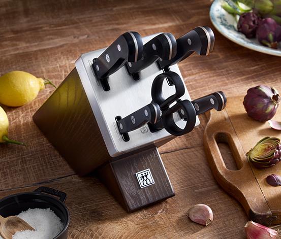 ZWILLING® Gourmet – 7-teiliger, selbstschärfender Messerblock aus Esche