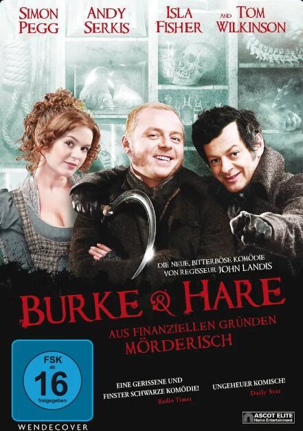 """""""Burke & Hare"""" mit Simon Pegg und """"Der glücklichste Tag im Leben des Olli Mäki"""" gratis Stream oder Download von Arte.tv bzw. 3Sat Mediathek"""