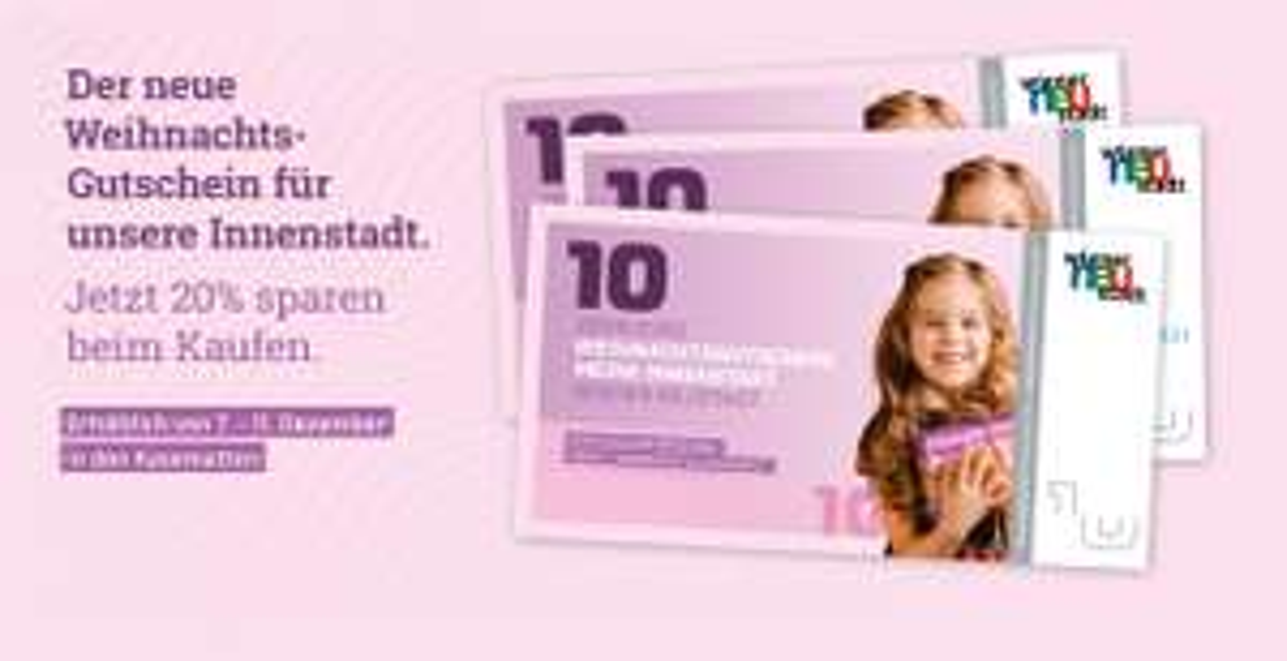 @Wr.Neustadt -20% auf Wertgutscheine bis zu max. 600€ für Geschäfte in der Innenstadt