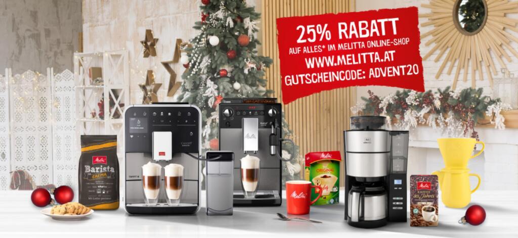 Melitta -25% auf fast alles (z. B. Avanza series 600 Kaffeevollautomat)