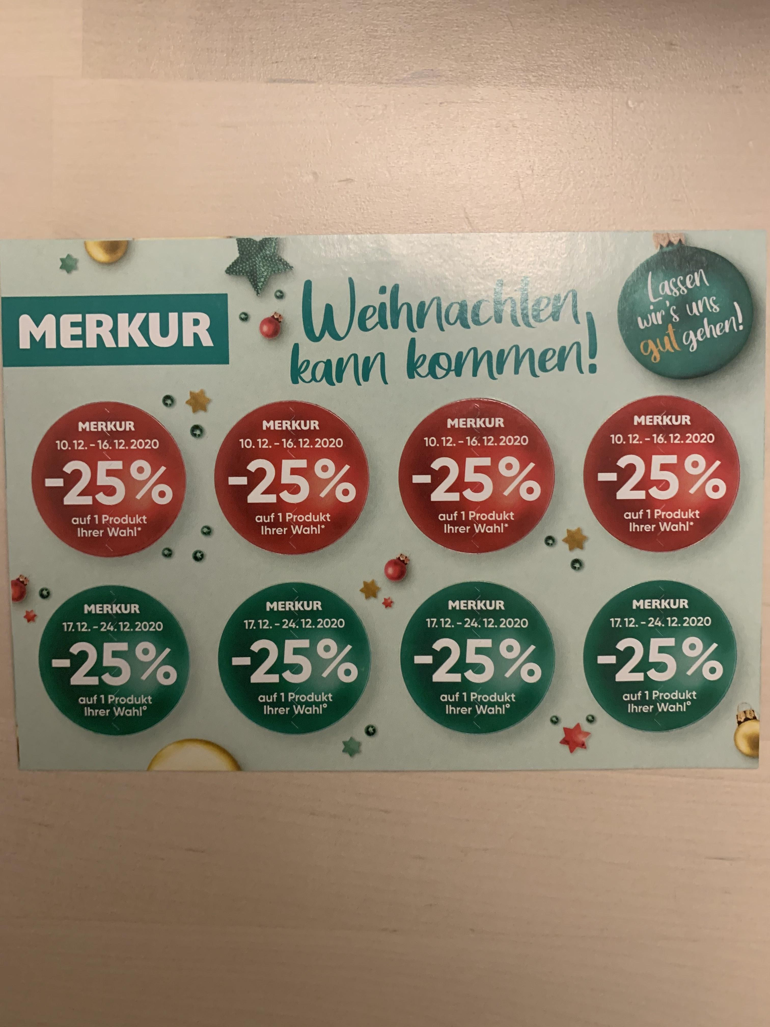Merkur: -25% Sticker