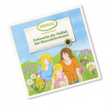"""[Heumilch.at] Gratis Kinderbuch """"Erforsche die Vielfalt der Heumilchwiesen!"""" + 2 weitere"""