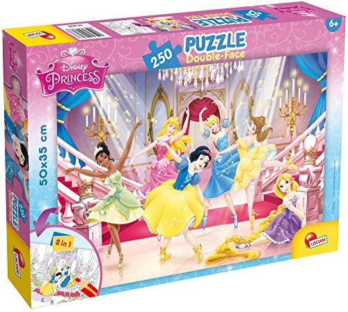 Liscianigiochi 48083 DisneyPrincess Doppelseitiges Puzzle