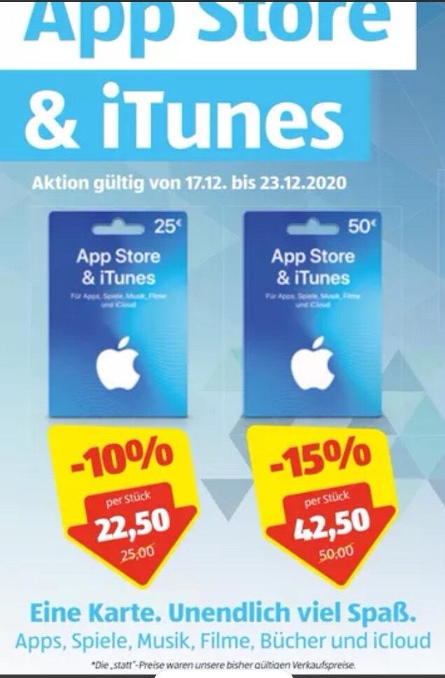 Ab 17.12.20 bei Hofer - 15% Rabatt auf 50€ App Store und iTunes Geschenkkarte