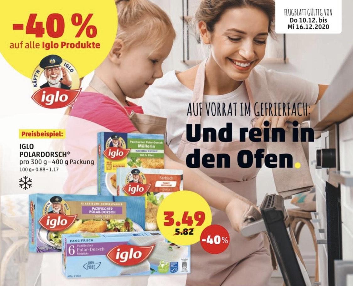 [ Penny Markt ] -40% auf ALLE Iglo Produkte