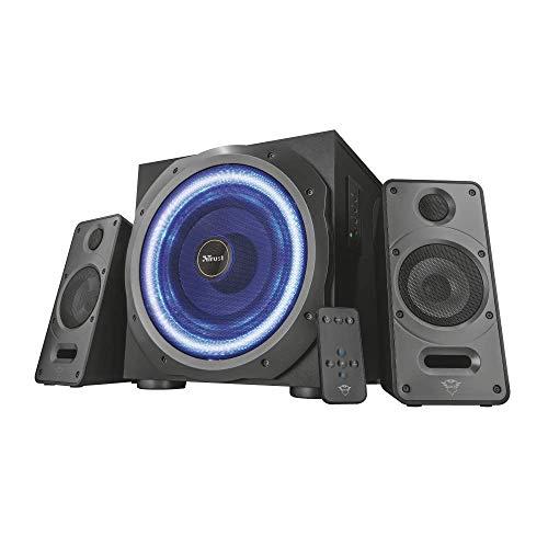 Trust GXT 688 Torro Beleuchtetes 2.1 Lautsprecher Set (geeignet für PC, Laptop, Smartphone und Tablet, 120 Watt, LED beleuchtung)