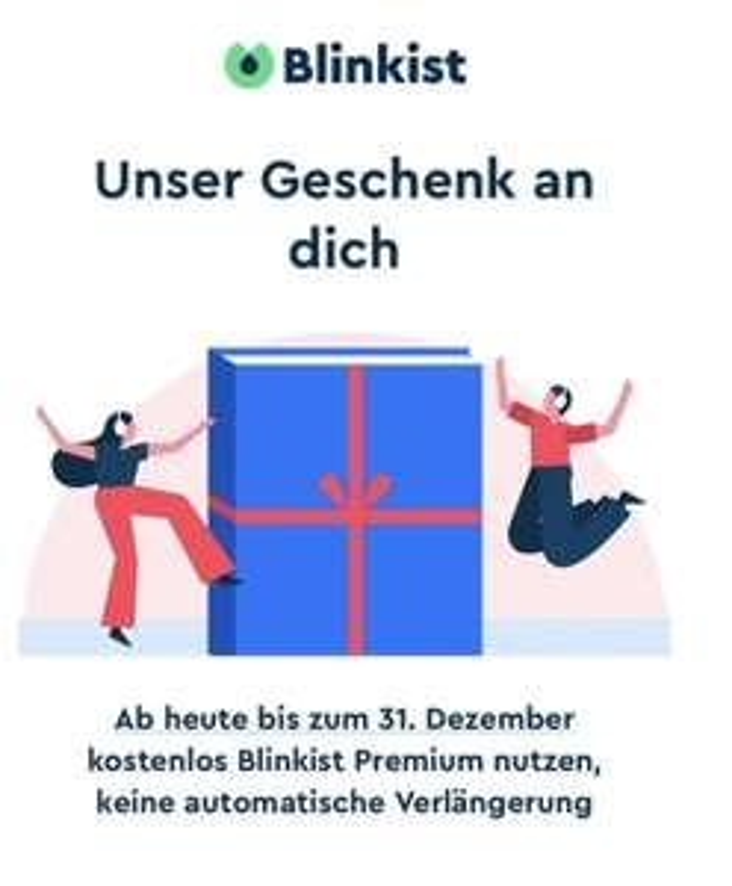 """Als Blinkist """"FreeUser""""dezeit Blinkist """"Premium"""" bis 31.12.2020 gratis testen"""