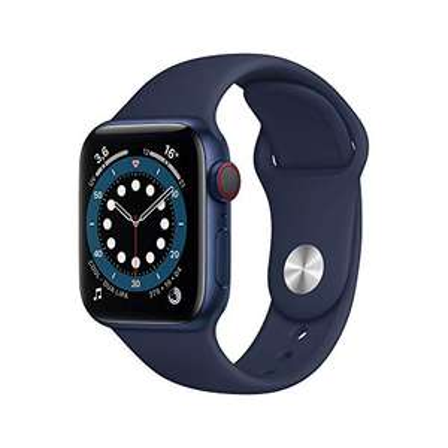 Apple Watch Series 6 (GPS + Cellular) 40mm Aluminium blau mit Sportarmband
