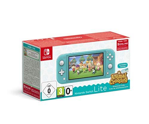 Nintendo Switch Lite - Animal Crossing: New Horizons Bundle, türkis od koralle + 3 Monate Switch Online