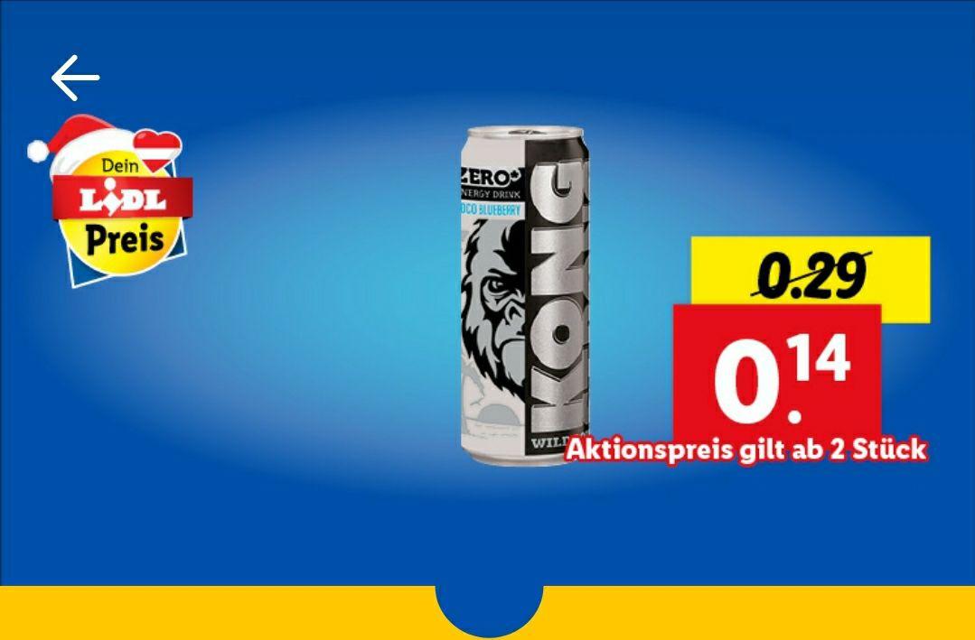 [Lidl] Energy Drink Kong Kokos-Blaubeere