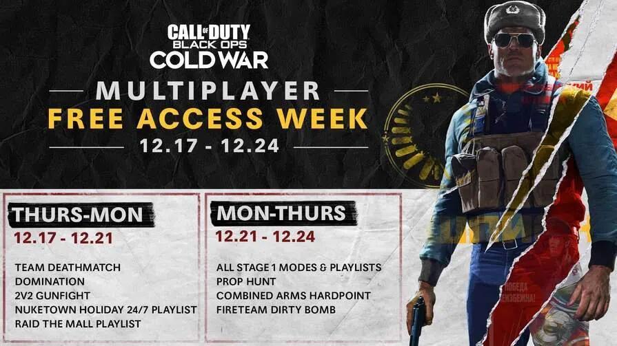 CALL OF DUTY®: BLACK OPS COLD WAR - kostenlos vom 17.12. - 24.12. (Free2Play Multiplayermodus - alle Plattformen)