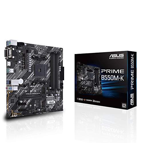 ASUS Prime B550M-K µATX Gaming Mainboard, Sockel AM4