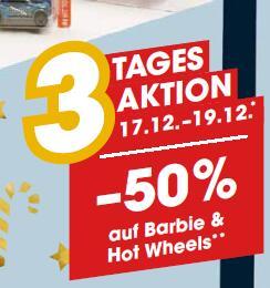 Libro: 50% Rabatt auf Barbie & HotWheels / 20% Rabatt auf alle Spielwaren