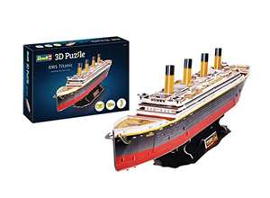 """Revell 3D Puzzle 170 RMS Titanic - 80 x 11 x 20 cm, 113 Teile (Sammeldeal: Auch andere """"Bei Nacht"""" Modelle)"""