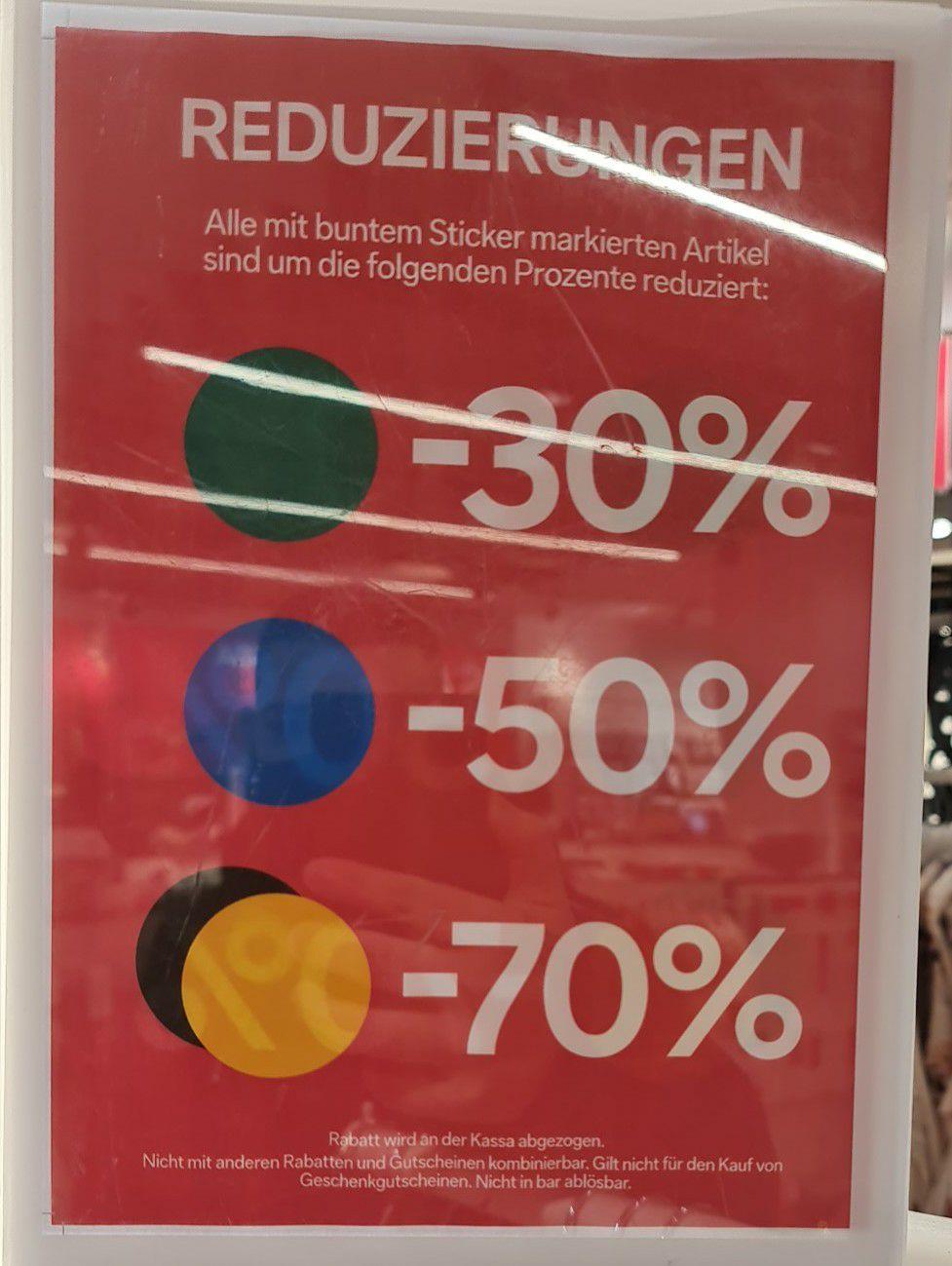 Bis zu 70% Rabatt beim C&A