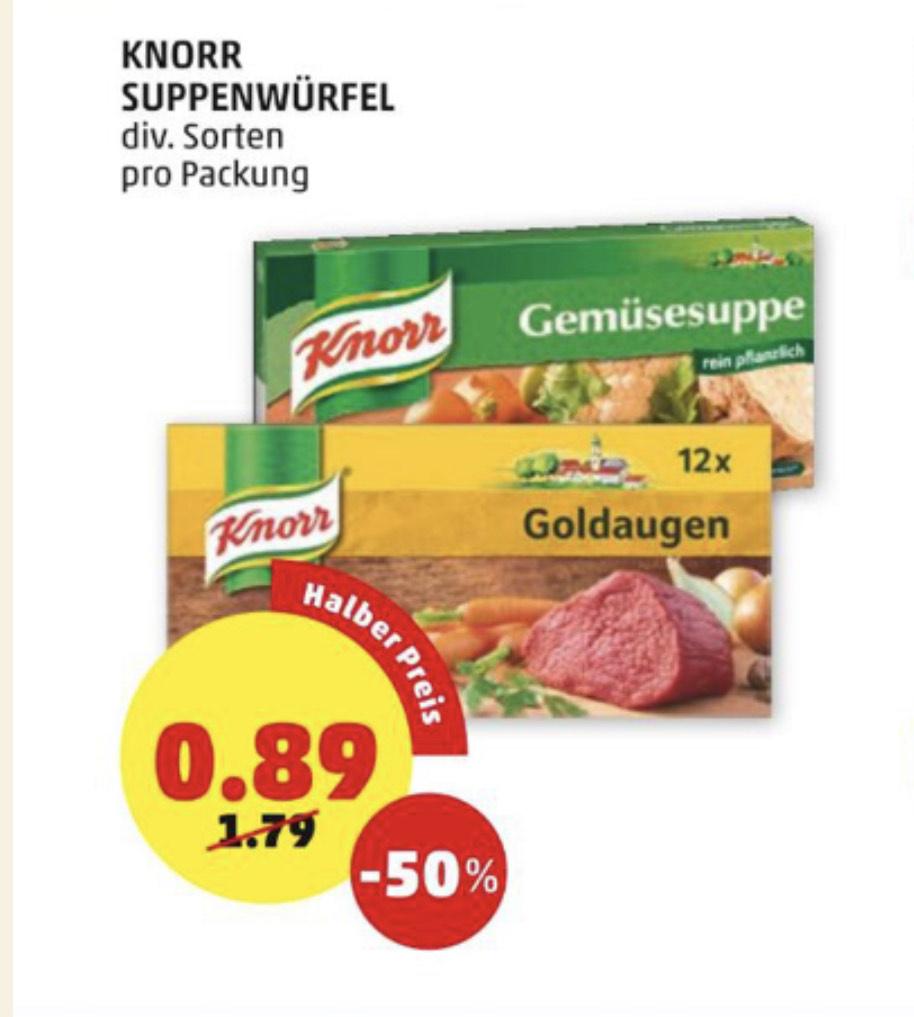 [ Penny Markt ] -50% auf Knorr Suppenwürfel