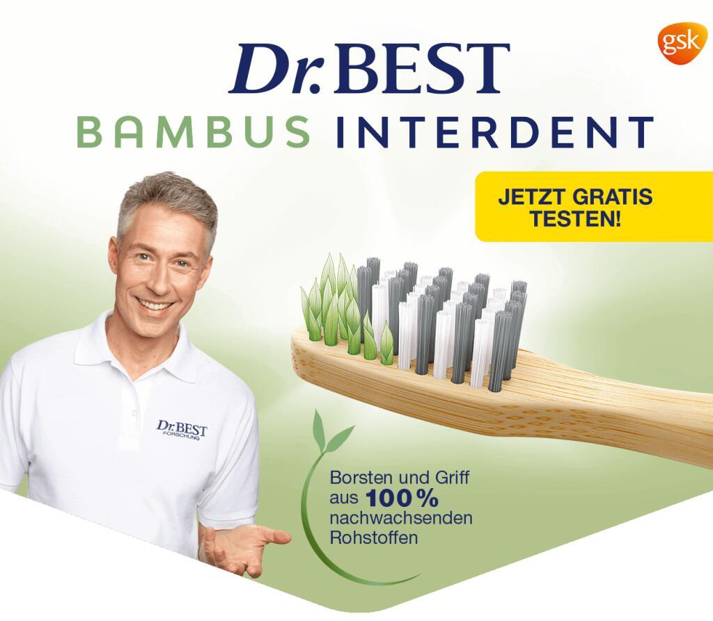 [Dr. Best Zahnbürste] Gratis Testen für 1x Nature Bambus Interdent Zahnbürste