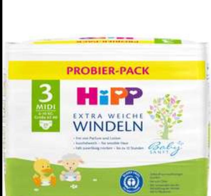 DM: Hipp Probier-Pack (Gr 2-5) je 20 Stück