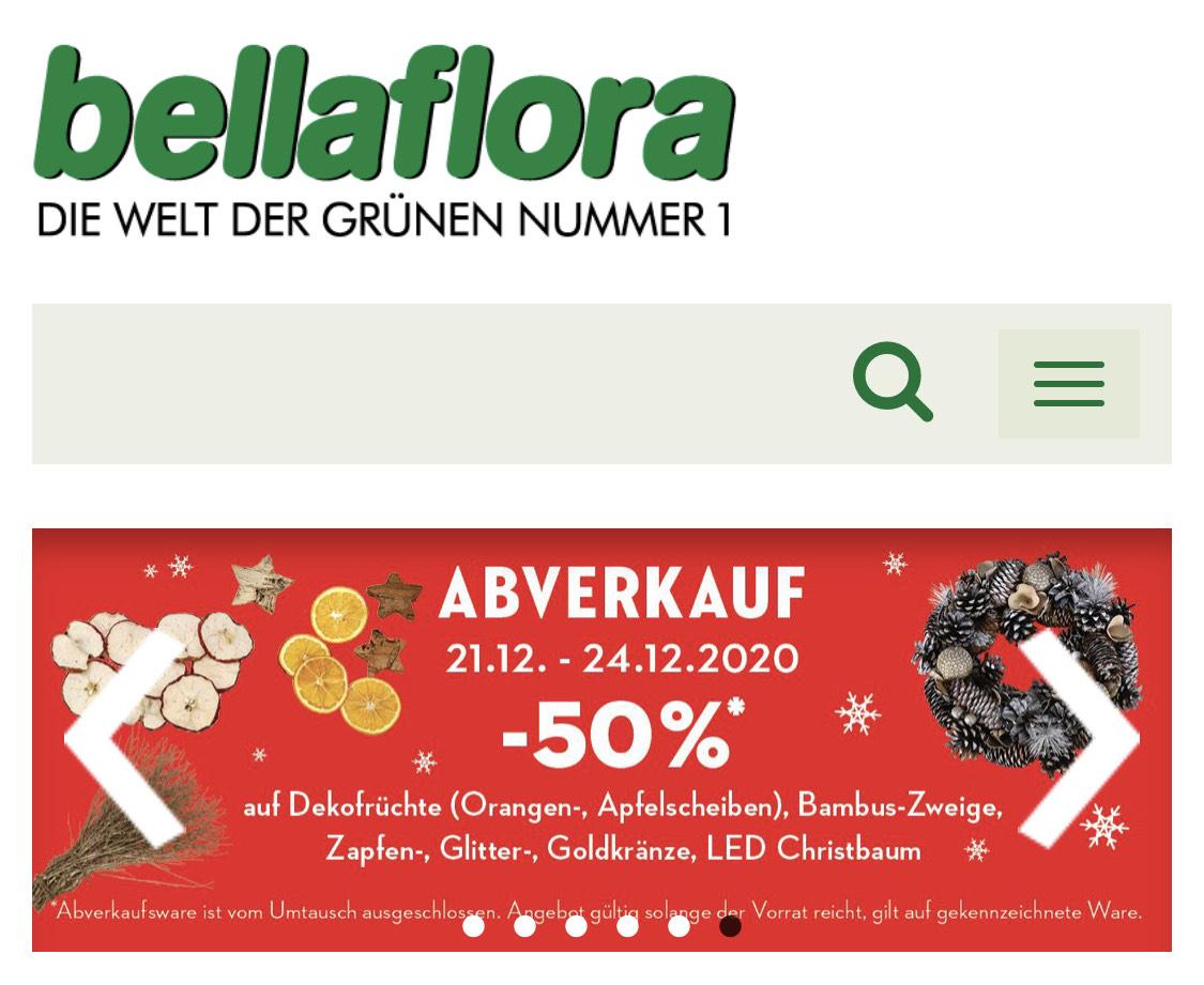 [ Bella Flora ] bis zu -50% Rabatt auf Weihnachts-Artikel