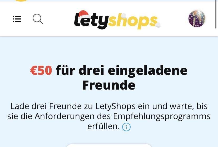 Doppelter Cashback bei Letyshops + 50€ Bonus für 3 Freunde