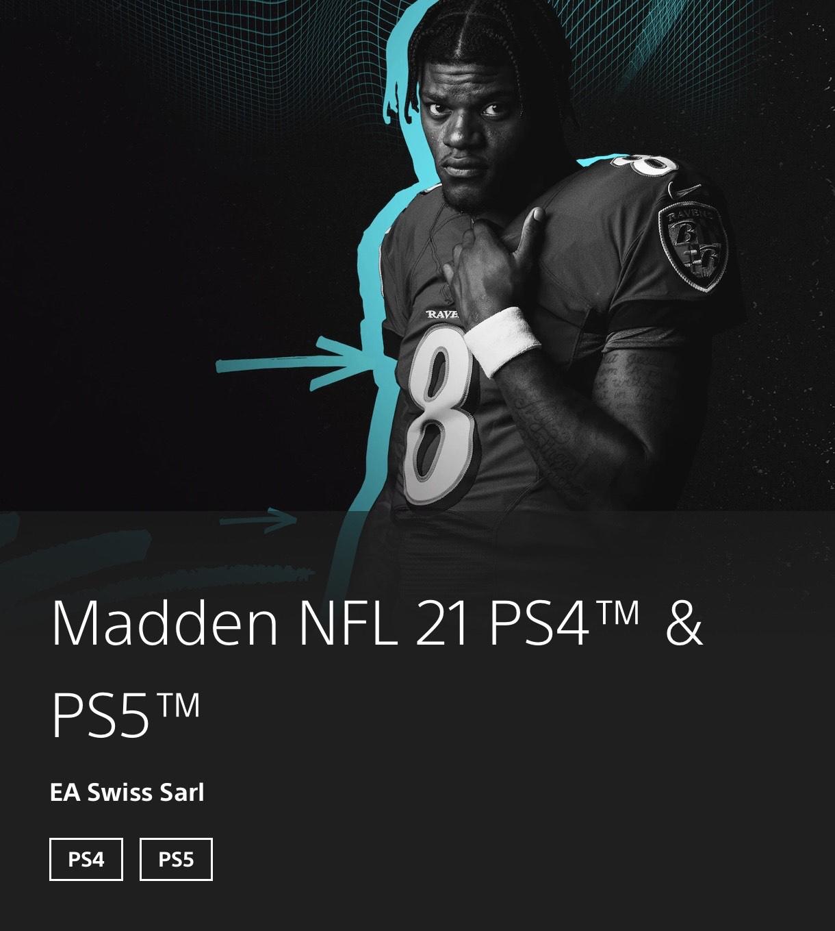 Madden bis zu 61% günstiger für PS4/PS5