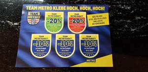 Metro: -20% Pickerl Team Metro Rabatt