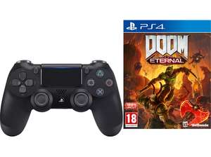 SONY PS4 DualShock 4 Wireless Controller V2 Schwarz + DOOM Eternal