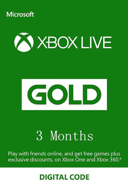 XBOX Live 3 Month Gold Membership Card Global €13.99 @BCDKEY