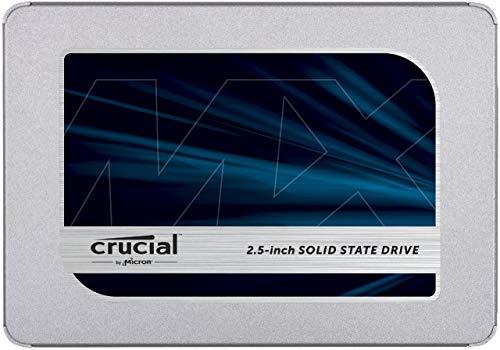Crucial MX500 250GB - bis zu 560 MB/s (3D NAND, SATA, 2,5 Zoll, Internes SSD)