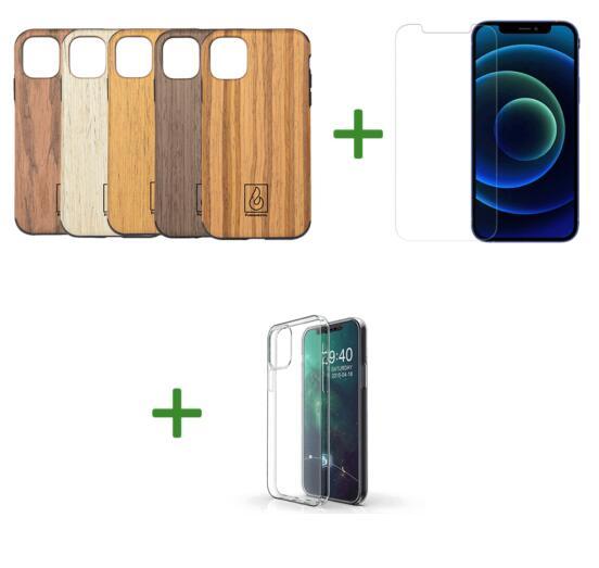 Fundamental-Shop: Echtholz Case + Panzerglas + transparente Schutzhülle (iPhone, Galaxy,..)