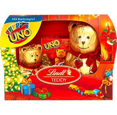 [INTERSPAR] Lindt Teddy 140g + UNO oder SKIP-BO Kartenspiel Pocket
