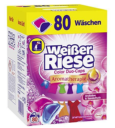 Weißer Riese Color Duo-Caps, Aromatherapie Orchidee & Sandelholz, Colorwaschmittel, 80 Waschladungen (4 Stück)