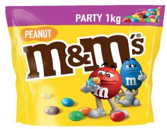 [Interspar] m&m´s 1kg, Erdnuss - in Kombination mit -25% Sticker