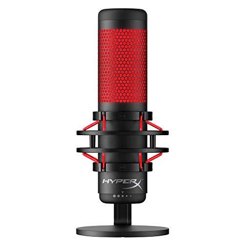 [Amazon] HyperX HX-MICQC-BK QuadCast - Standalone Mikrofon für Streamer Gamer