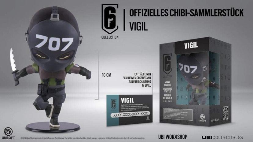 Ubisoft Six Collection - Vigil Figur (Rainbow Six Siege, Serie 3)