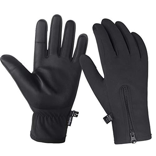 Unigear Touchscreen Handschuhe, Anti-Rutsch, Fahrradhandschuhe (Wasserdicht, Winddicht) geeignet für Winter