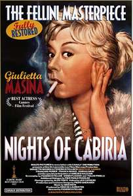 """""""Die Nächte der Cabiria"""" von Frederico Fellini als Stream oder zum Herunterladen von Arte.tv"""